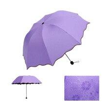 2017 NEW Delicate multifunktions Regenschirm Dame Prinzessin Magie Blumen Dome Sonnenschirm/Regen Taschenschirm Für Frauen kind Kind