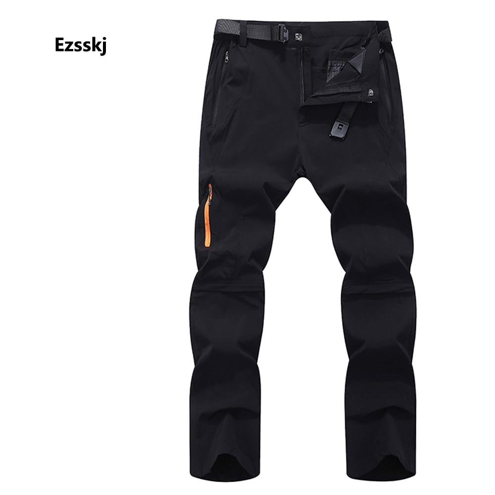 New Men s Summer Adjustable Hiking Climbing Waterproof Trousers Outdoor Cargo Trip Travel Pants Zipper Front