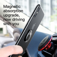 Baseus Metal Finger Ring Holder For iPhone Samsung Mobile Phone Ring 360 Degree Mount Holder Stand For Magnetic Car Phone Holder 1