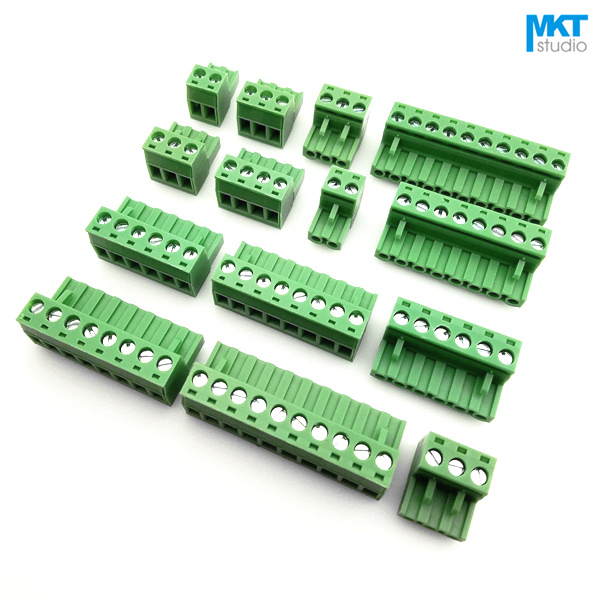 100Pcs 16P 5 08mm Pitch Right Angle Female PCB Electrical Screw Wire Terminal Block Connector
