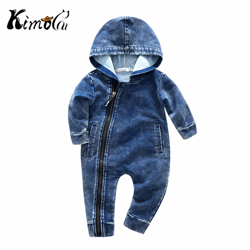 Kimocat New High Quality Spring And Autumn Lucky No.7 Fashion Newborn Baby Ropmer Cartoon Long Sleeve Baby Boy  Clothes