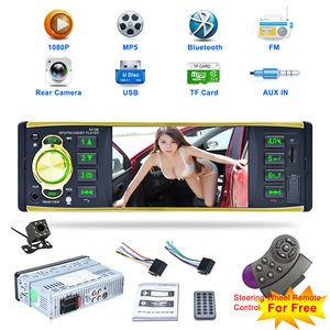 4,1 дюймов 1 один Din автомобильное радио аудио стерео AUX FM радио станция Bluetooth Авторадио с камерой заднего вида дистанционное управление