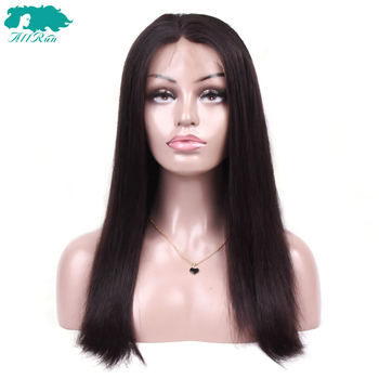 Allrun 360 Lace Frontal Wig Short Human Hair Wigs With Baby Hair Bang Wig Brazilian Straight Hair Bob Wigs Non Remy For Women 2