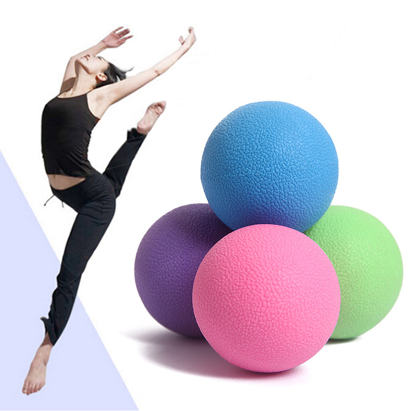 Fitness Ball Massage Home Exercise Relax Body Pain Relief Rubber Solid Ball Health Care Relieve Trigger point Massager Balls C3 pop relax tourmaline health products prostate massager for men pain relief 3 balls germanium stone far infrared therapy heater