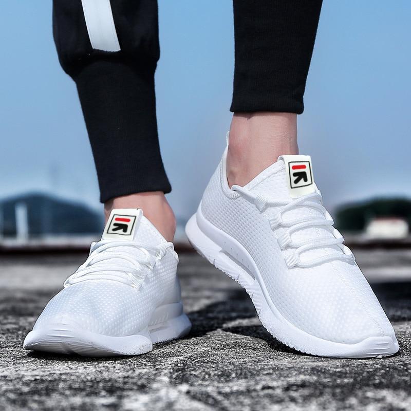 Pure Color Light Casual Shoes Mesh Cloth Men's Shoes Breathable Walking Jogging Shoes Large Size Men's Shoes 46 (10)