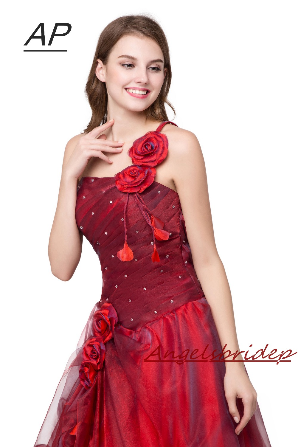 Image 5 - ANGELSBRIDEP Quinceanera Dress Red Vestidos De 15 Anos Sexy One  Shoulder Masquerade Ball Gowns Formal Party Gowns 2020 Hot Saleball  gown formalmasquerade ball gownsquinceanera dresses red