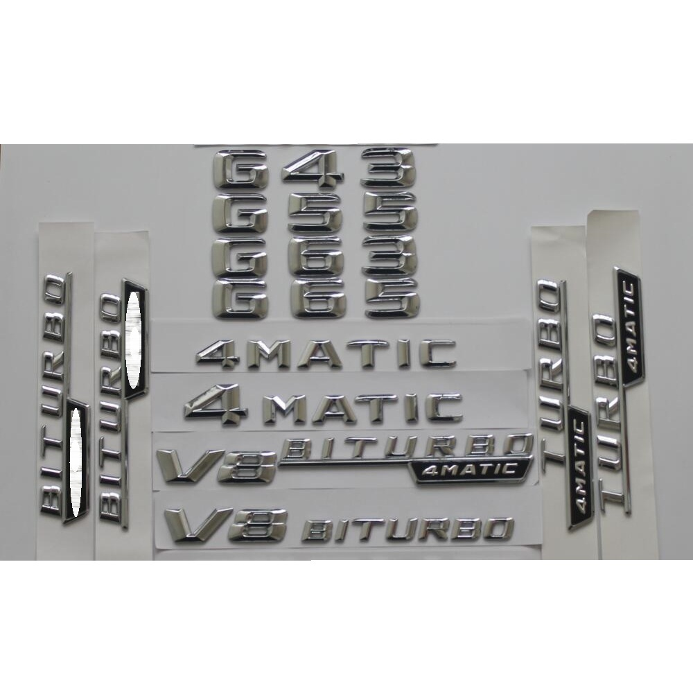 "V12 BITURBO/"" Letters Trunk Embl Badge Sticker for Mercedes Benz 2018/""S65L AMG"