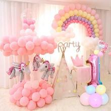 QIFU украшения в виде единорога для дня рождения Детские вечерние украшения в виде единорога принадлежности для вечеринки в честь Дня рождения для девочек