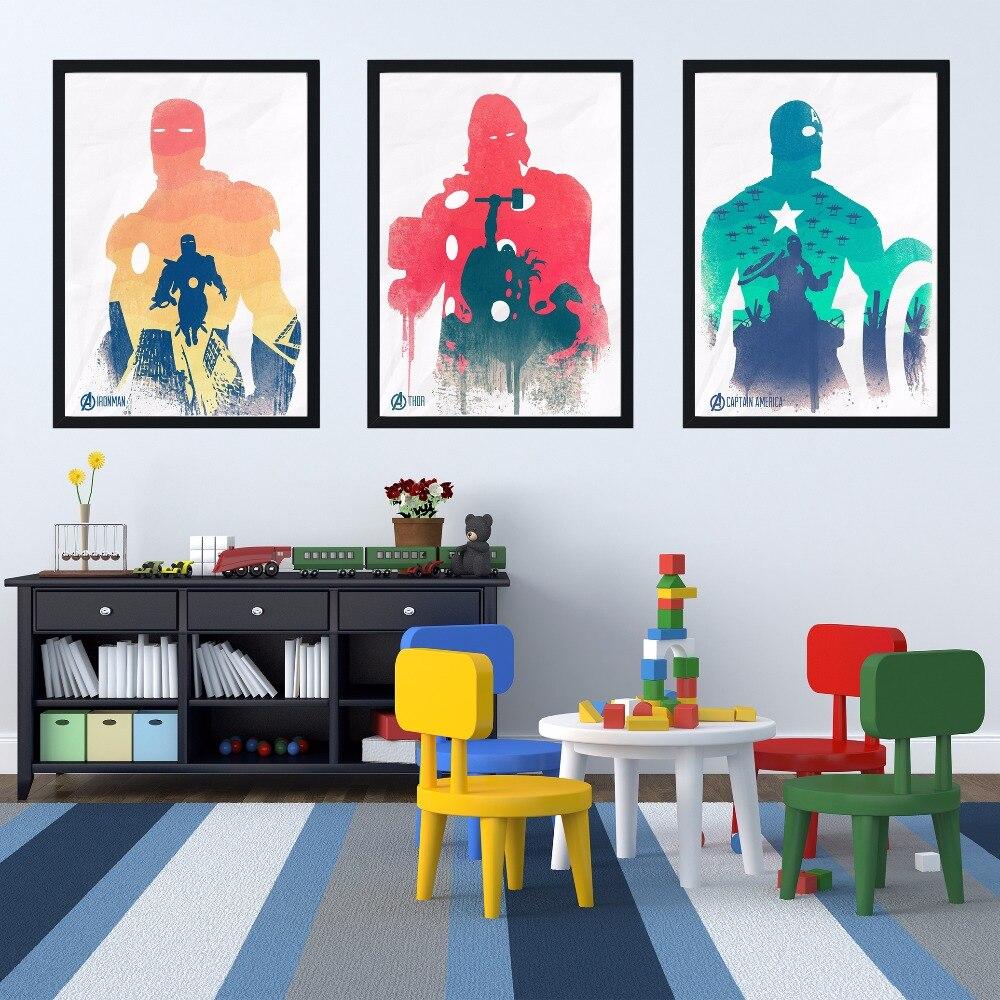 Hulk Superheroes Comic Silk Poster Minimalist Wall Art Canvas Print 12x18 24x36