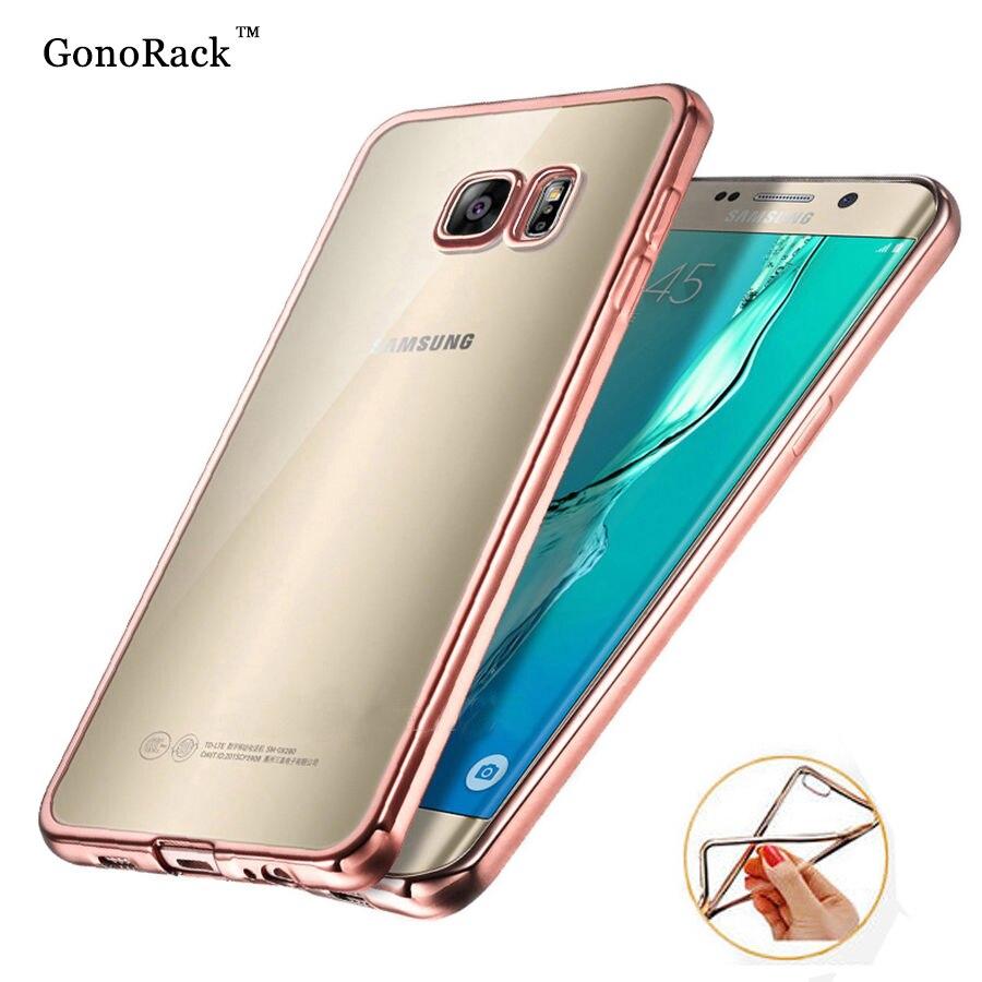 Gonorack покрытие прозрачный силиконовый чехол для Samsung Galaxy S8 S5 S6  S7 Edge Plus чехол Коке силиконовые защитный чехол охватывает 1e8fd3e727f