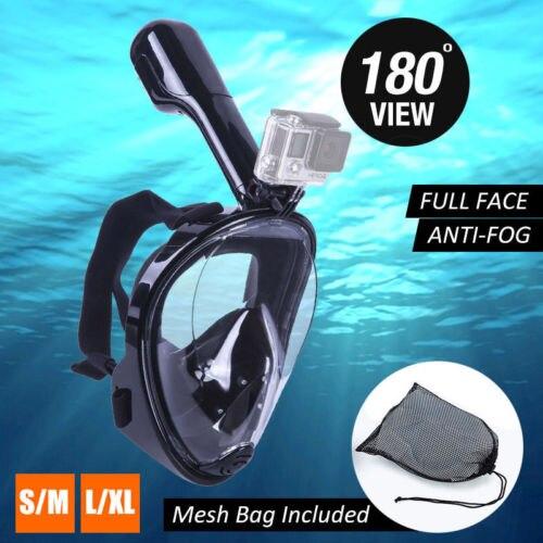 2018 CHAUDE Natation Plongée Snorkeling Plein Visage Masque Sous-Marine de Surface pour Gopro S/M (Enfant type)