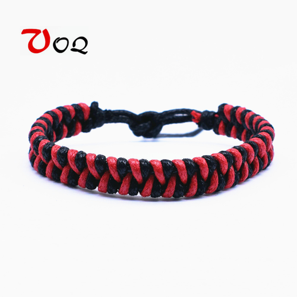 Baru Fashion Tenunan Tangan Renda Merah Tali Gelang untuk Pria dan Wanita Pasangan Gelang Penggemar Olahraga Peran bermain Perhiasan Grosir