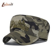 8cbfe520a2e 2018 United States US Marines Corps Cap Hat Military Hats Camouflage Flat  Top Hat Men Cotton