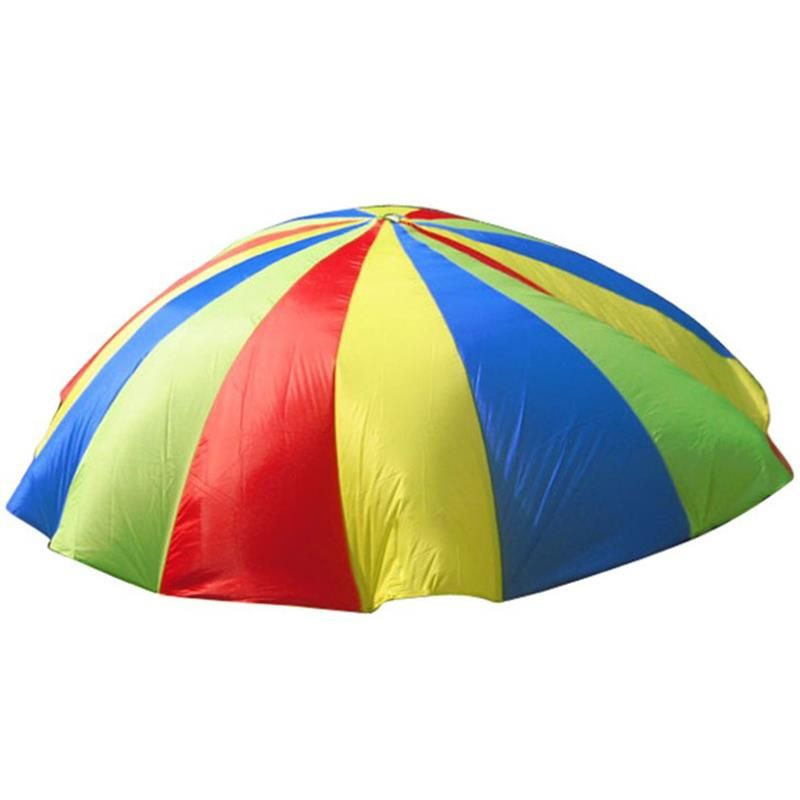 2m Child Sports Development Outdoor Rainbow Umbrella Parachute Kid Toy Jump sack Ballute Play Parachute