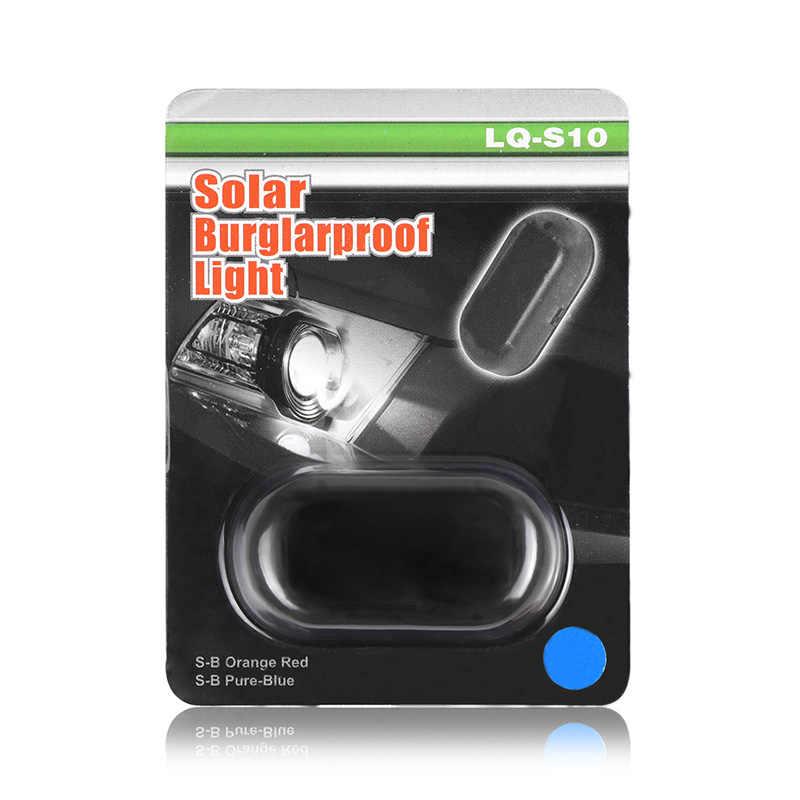 Onever имитирует солнечную автомобильную противоугонную сигнализацию светодиодный светильник имитация системы безопасности Предупреждение кражи Вспышка мигающая лампа для Ford Audi