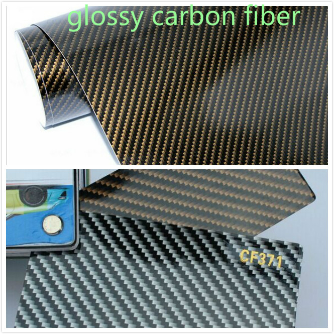 300mm x 1520mm Car Styling Carbon Fiber 2D Glossy Carbon Fiber Vinyl Film Auto Wrapping Vinyl Wrap Foil Car Sticker Color Change car styling real carbon fiber glossy surface cambered wine holder page 4