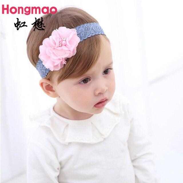 6a6fb6cbac7b2f AUF VERKAUF 1 STÜCKE kinder haarschmuck baby doppel nähen Blume stirnband  prinzessin elastisches haarband foto requisiten