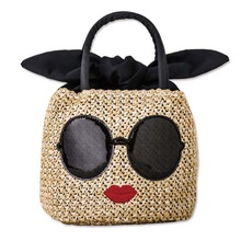 Z-ZOXU Women Bag Women Travel Bags Straw Beach Bags Color Ma