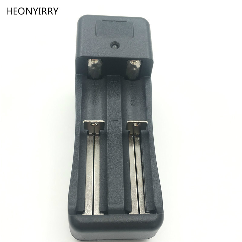 US EU Plug 18650 Ajustable Universal Dual Battery Charger Charging For 3.7V 18650 16340 14500 Li-ion Rechargeable Battery