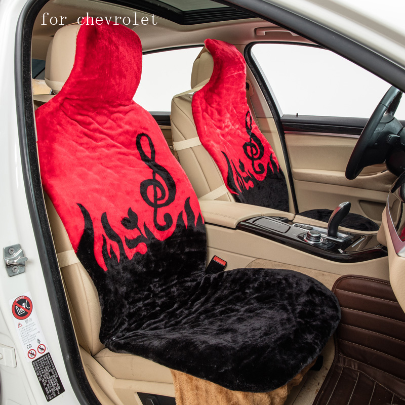 For Chevrolet Cruze Sail malibu Silverado pattern keep warm plush car seat covers front and rear full seat Interior Accessories 2 black and tan checkered seat covers for a 2010 to 2013 chevrolet equinox side airbag friendly