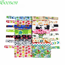 5 PCS Washable Nursing Pads Wet Bags Nappy Bags Reusable Single Zippers Sanitary Pads Waterproof Wet