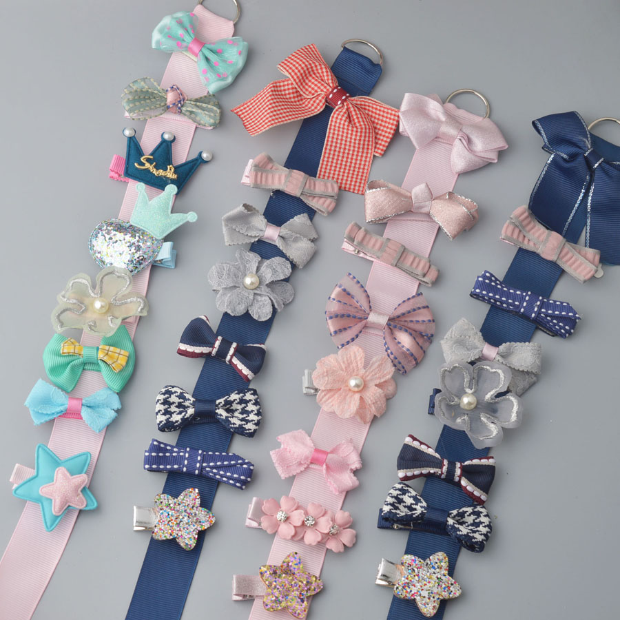8 PCS 2017 New Safe Bowknot Rabbit Head Hairpins Ornaments Hair Jewelry Girls Accessories Children Hair Clip Kids Barrettes baby cute style children accessories hairpins rabbit fur ear kids girls barrette lovely hair clip