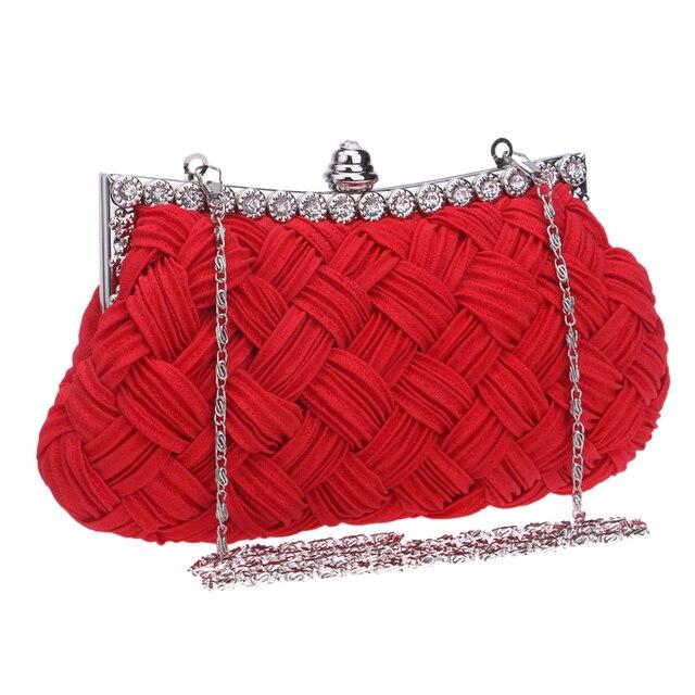 2016 moda cetim frisado malha de cristal sacos de noite de embreagem mulheres charme saco bolsa vestido de festa 2 estilos de alta qualidade New