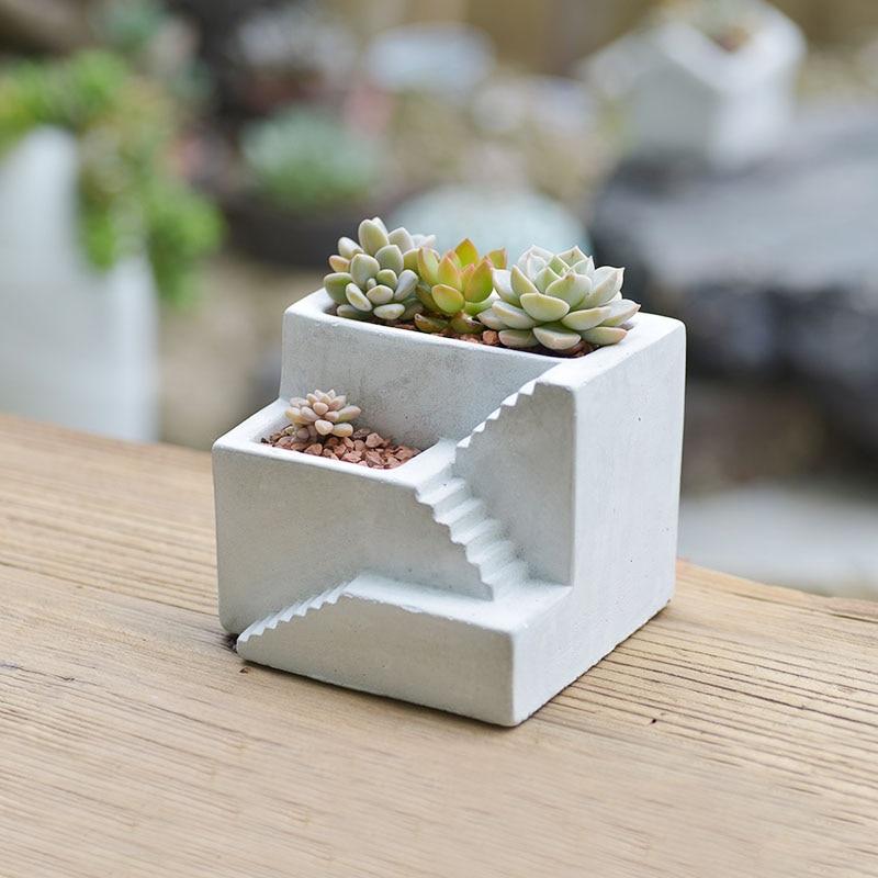 Силиконовые формы бетона горшок формы здания сторге держатели формы цветочные кашпо 3D ваза формы
