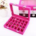 Nail Art Rhinestones Beads Display Box Storage Case 24 Compartments Pills Container Plastic Transparent