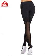 SPYREM спортивная женщины Yoga Спортивные штаны Running брюки sexy mesh колющими Эластичный дышащий сжатия леггинсы, 1FP8047