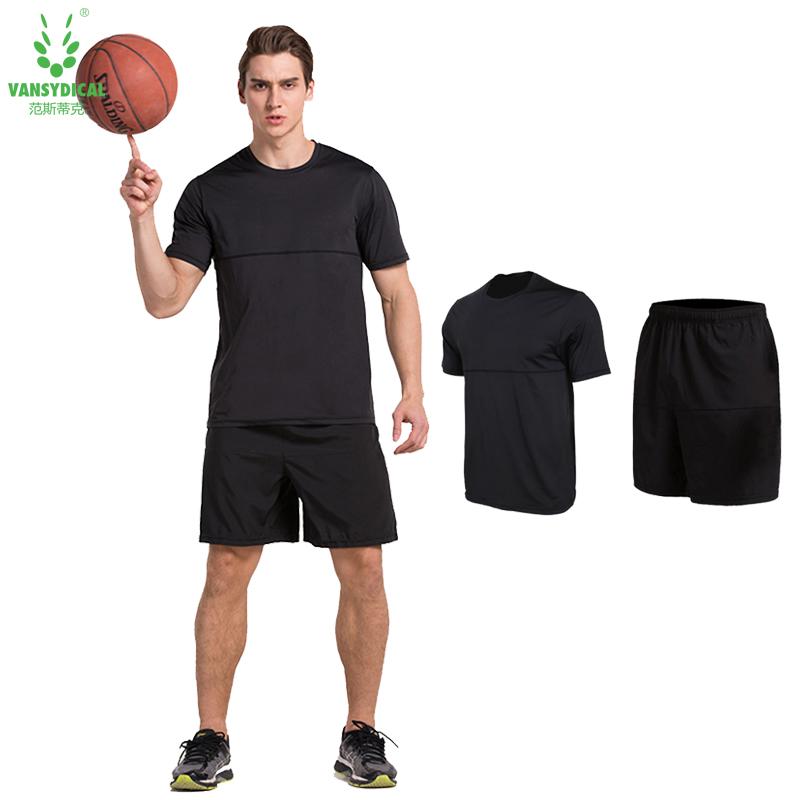 Prix pour VANSYDICAL Mens oose Gymnases vêtements Respirant à séchage rapide Sport Running Fitness Vêtements costume
