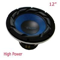 12 pulgadas superior de alta potencia del subwoofer coche de calidad 500 vatios HiFi gama altavoces, SPL y 16 kHz boom caja del altavoz más ruidoso audio del coche