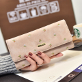 Women's Purse Soft Matte Suede Embroidery Bag Women Wallet Phone Pocket Purse Female Card Holder Lady Clutch Carteira Feminina