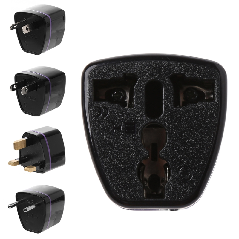 1PC Universal US UK AU To EU Plug USA To Euro Europe Travel Wall AC Power Charger Outlet Adapter Converter 2 Round Socket Pin #