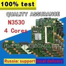 X553MA материнской N3530 N3540 4 ядра для ASUS A553M D553M F553M K553M Материнская плата ноутбука X553MA плата X553MA материнская плата