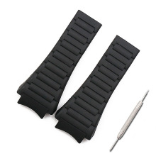 Men watch band accessories rubber strap women for porsche design 6620 sports waterproof belt
