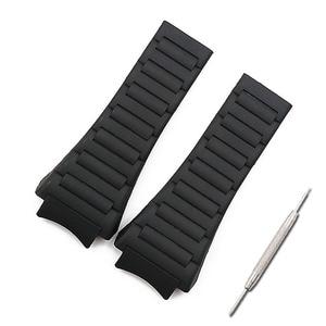 Image 1 - Men watch band watch accessories rubber strap women for porsche design 6620 sports waterproof watch belt