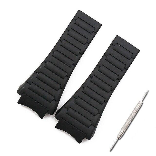 Men watch band watch accessories rubber strap women for porsche design 6620 sports waterproof watch belt