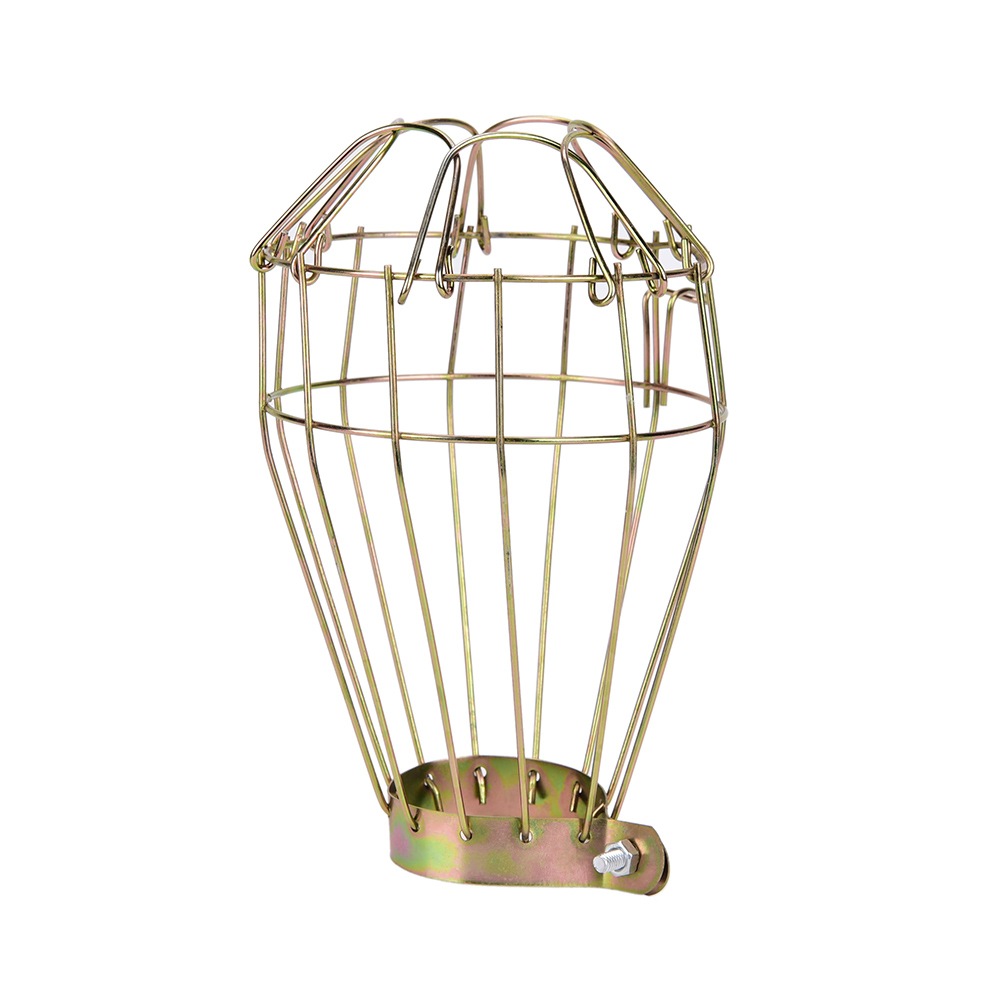 Lamp Shades Vintage Industrial Design Steel Bulb Guard Clamp On Metal Lamp Cage Retro Trouble Light Industrial Lamp Covers