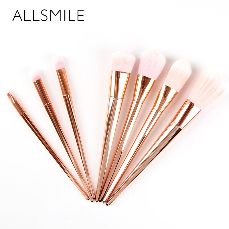 7 PCS/SET Powder Foundation Blusher Eyebrow Lip Eye shadow Make up Brushes Set Beauty Cosmetic Tool Kits pinceis de maquiagem lcbox professional 40pcs cosmetic makeup brushes set blusher eyeshadow powder foundation eyebrow lip make up brush with bag