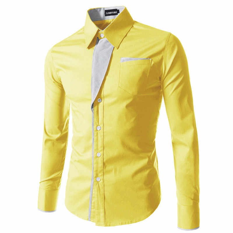 Hot Sale New Fashion Camisa Masculina Lengan Panjang Kemeja Pria Slim Fit Desain Formal Kasual Merek Pria Kemeja Ukuran m-4XL