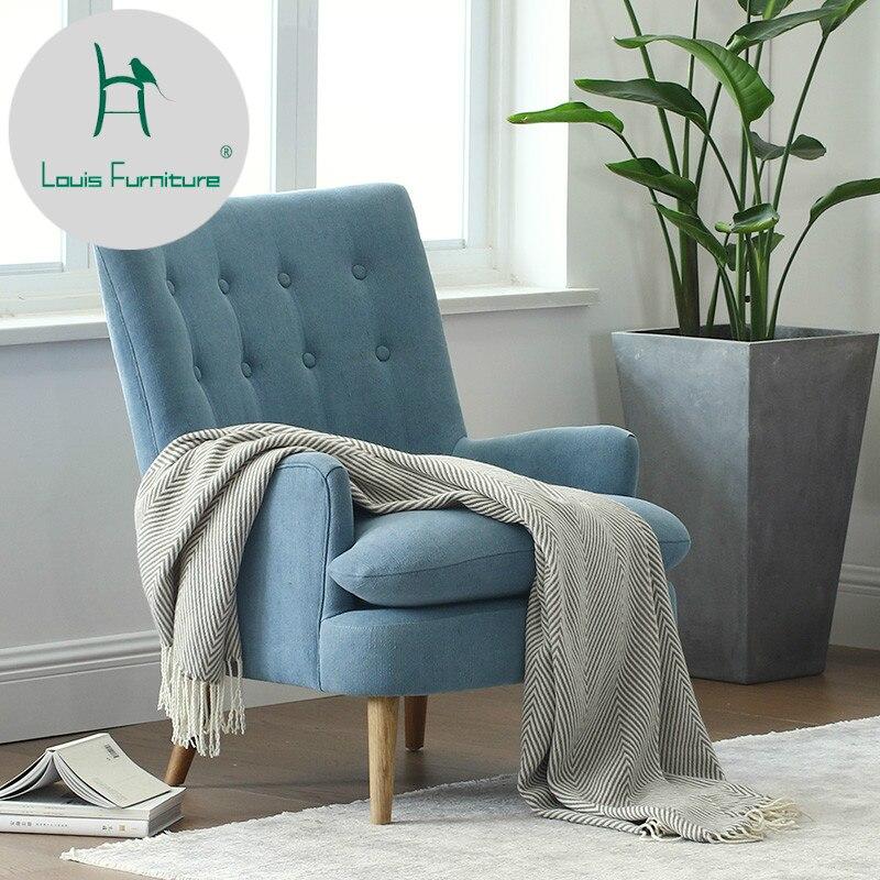 louis fashion living room chair single sofa small