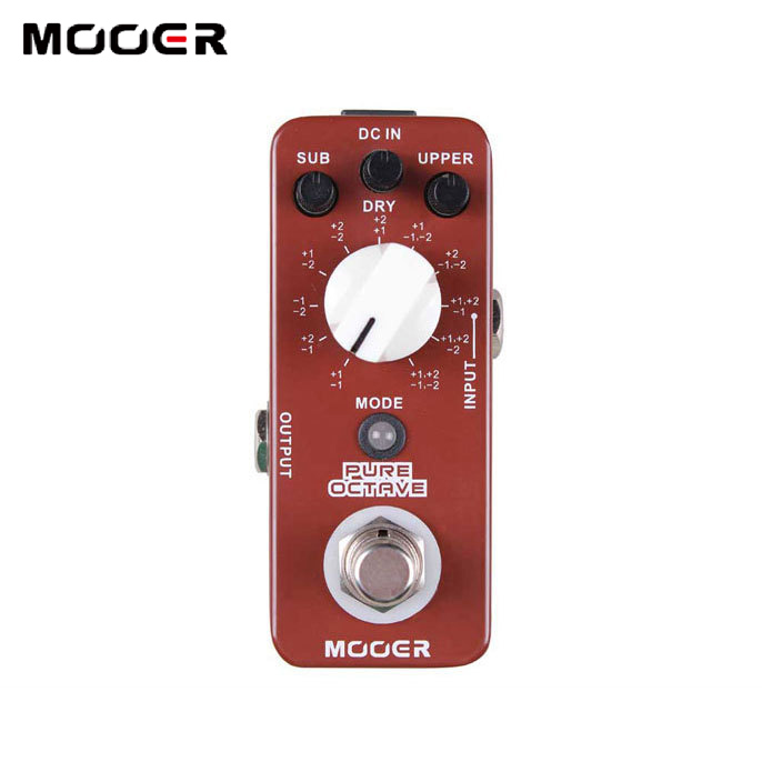 NEW Effect Pedal/MOOER Pure Octave Octave Pedal 11 different octave modes True bypass Free shipping nux octave loop looper pedal 1 octave effect infinite layers with bass line true bypass 3 modes guitar single block effector