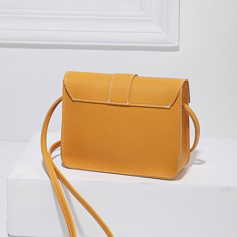 Fashion Small Crossbody Bags for Women 2019 Mini PU Leather Shoulder Messenger Bag for Girl Yellow Bolsas Ladies Phone Purse 7