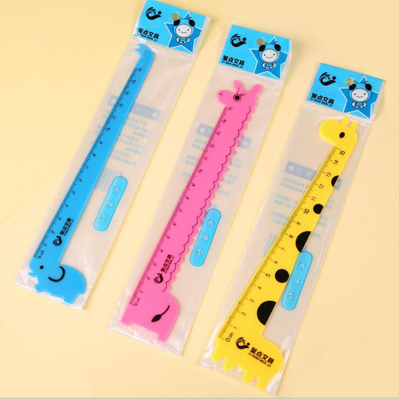 150mm Giraffe Cute Cartoon Ruler Student Prize School Office Stationery (3 Different Styles Of Random Distribution)