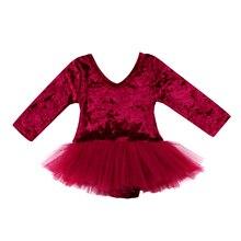 Newborn Kid Baby Girls Romper Tulle Pleuche Dress