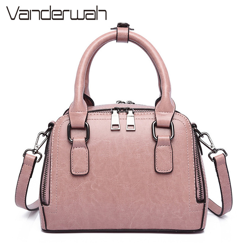 VANDERWAH Double zipper Women Bag Lady Handbag Shoulder Bags Messenger Bags PU Leather Bag Brand Name Tote Satchel Sac a main цены онлайн