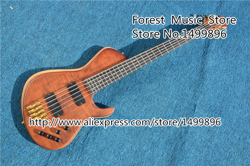 New Arrival China Custom Shop 5 String Bass Guitar Ebony Fretboard Free Shipping epiphone ltd matt heafy signature les paul custom ebony
