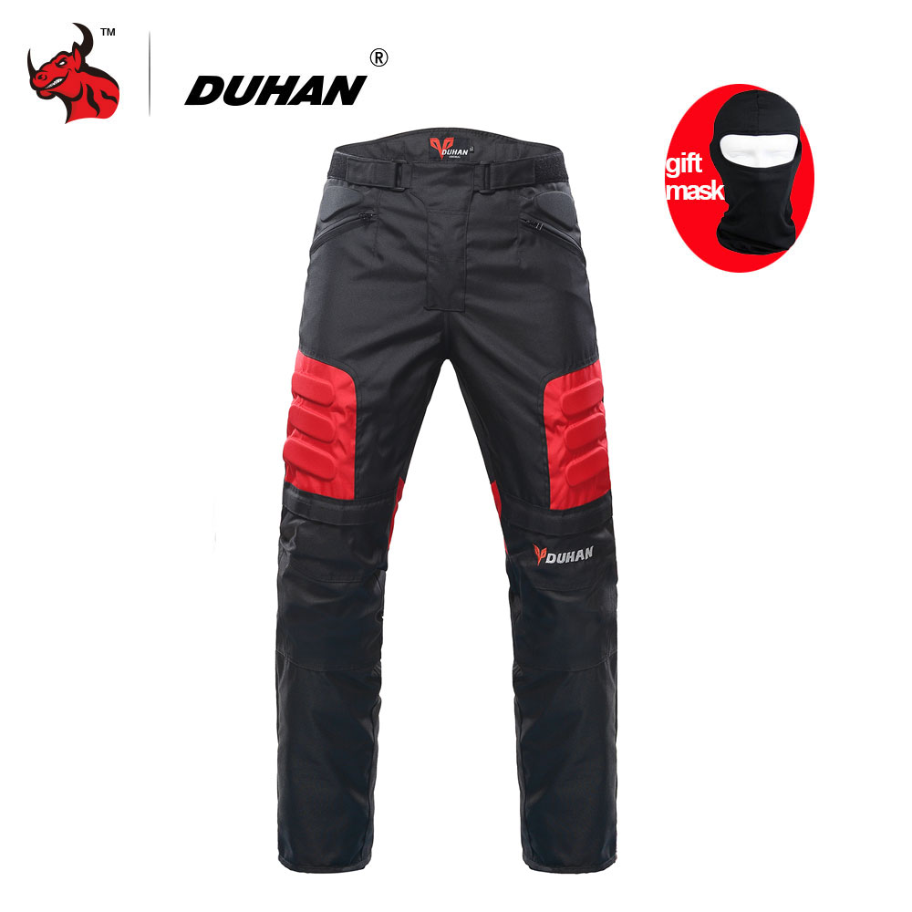 DUHAN Motorcycle Pants Motocross Off-Road Trousers Motorcycle Racing Pantalon Windproof Riding Pants Knee Protective Guards 3d printer and printer carbon rod 3d fish eye link arm lever parts of high precision delta accessories