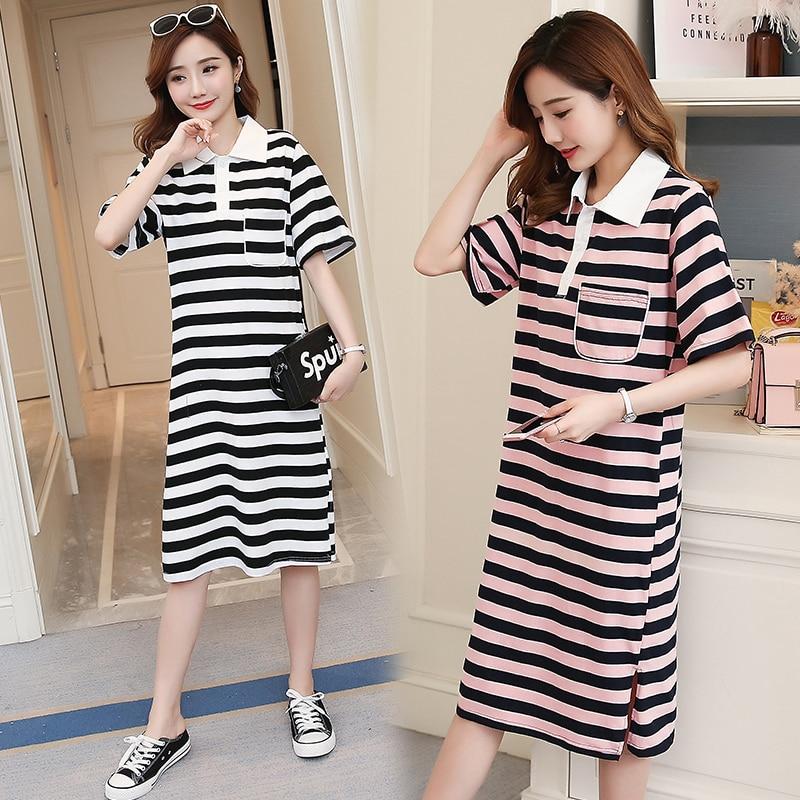 Striped Maternity Dress Brief Pregnancy Clothes Fashion Patchwork Chiffon Pregnancy Clothing Of Pregnant Women Premama